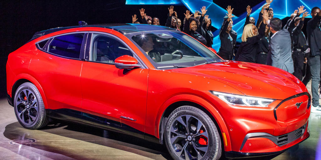 Ford Unveils Its All Electric Mustang Inspired Suv News