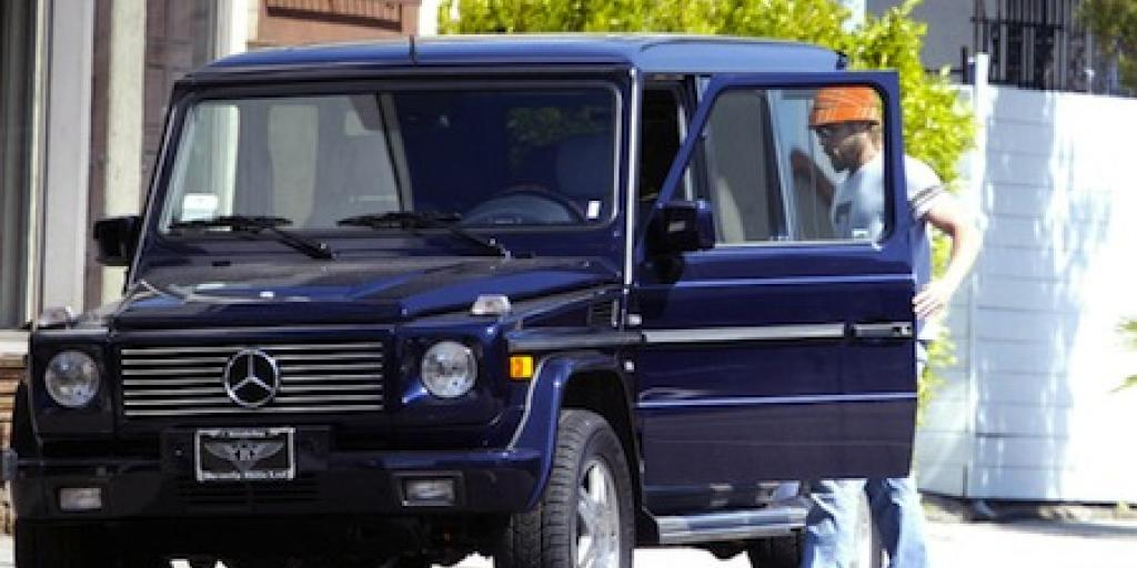 Brad Pitt Mercede Benz G Wagon
