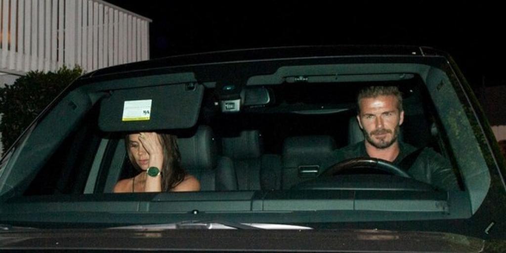 David Beckham range rover