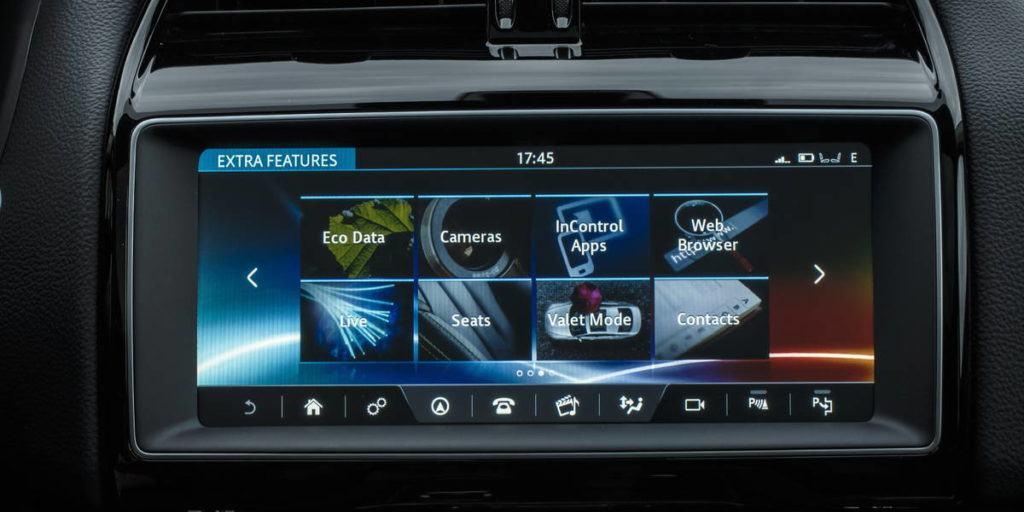 jaguar f pace navigation